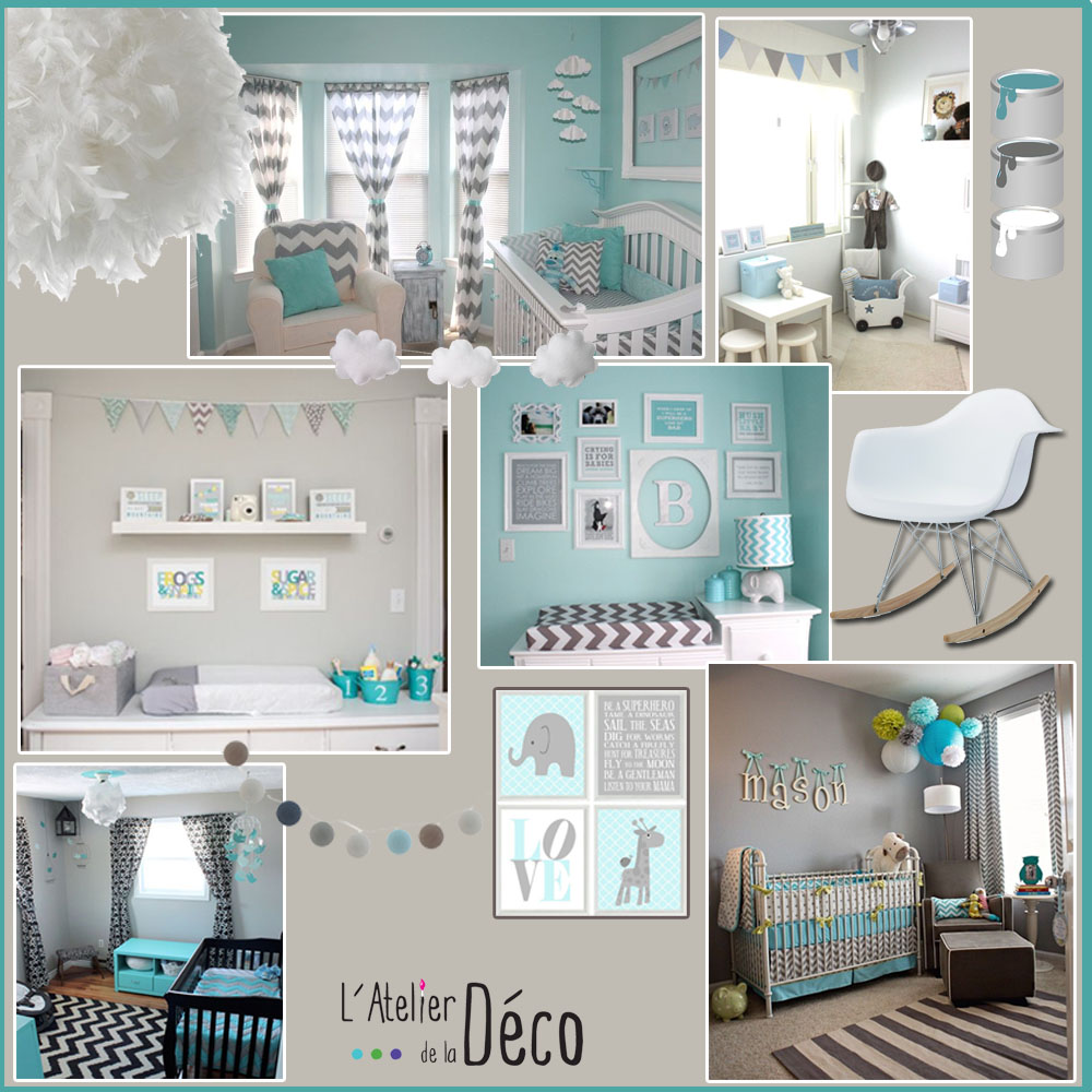 Chambre b b l 39 atelier de la d co d coration d for Decoration interieur chambre bebe