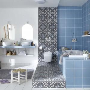 le carreau de ciment pour un style r tro et tendance la. Black Bedroom Furniture Sets. Home Design Ideas