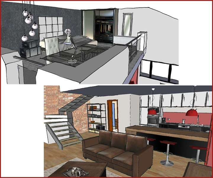 Am nagement d un studio avec mezzanine l 39 atelier de la d co d coration d 39 int rieur home for Amenagement mezzanine