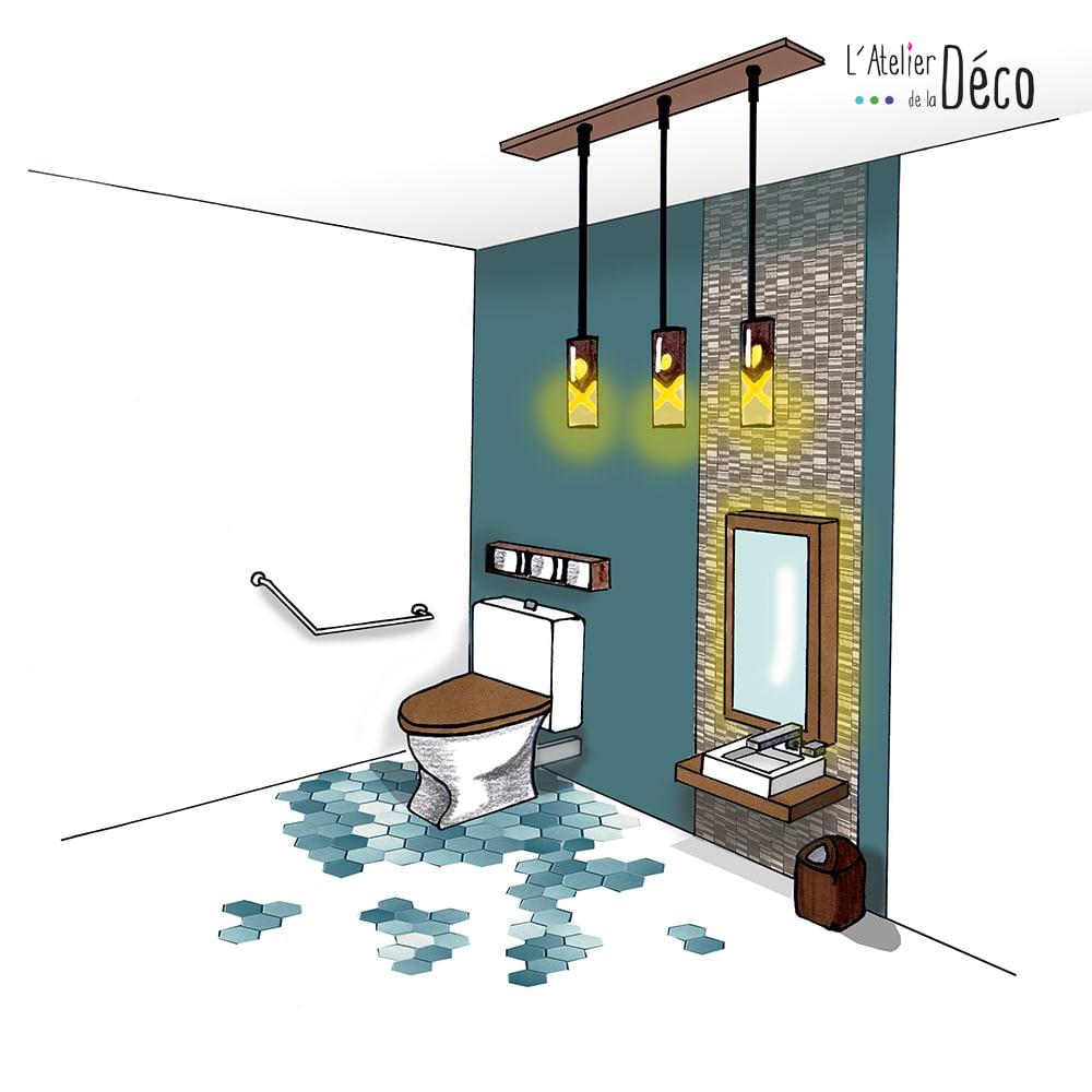 am nagement d un espace sanitaire pour handicap l 39 atelier de la d co d coration d 39 int rieur. Black Bedroom Furniture Sets. Home Design Ideas