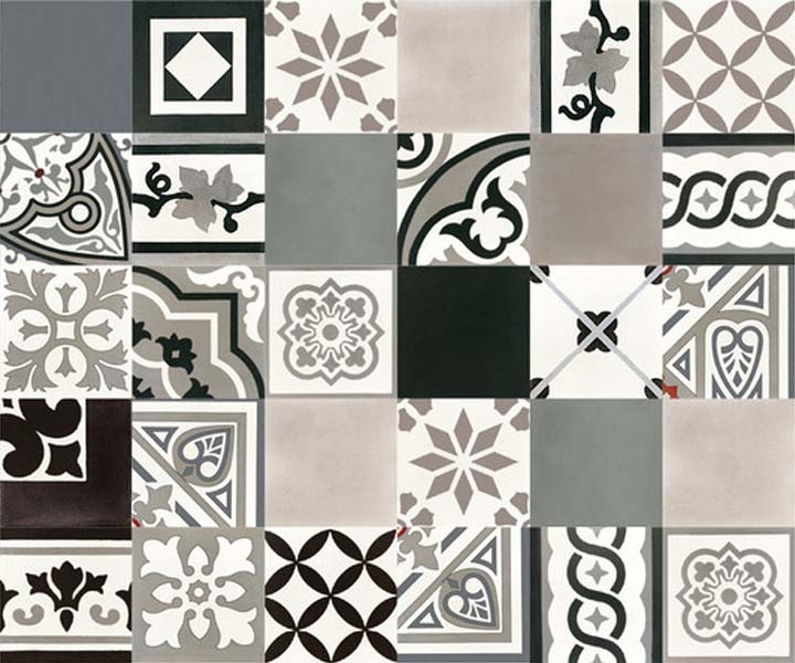 le carreau de ciment pour un style r tro et tendance la fois l 39 atelier de la d co. Black Bedroom Furniture Sets. Home Design Ideas