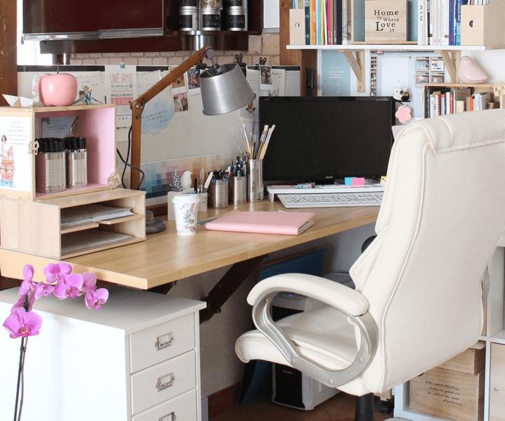 je vous invite dans mon bureau l 39 atelier de la d co. Black Bedroom Furniture Sets. Home Design Ideas