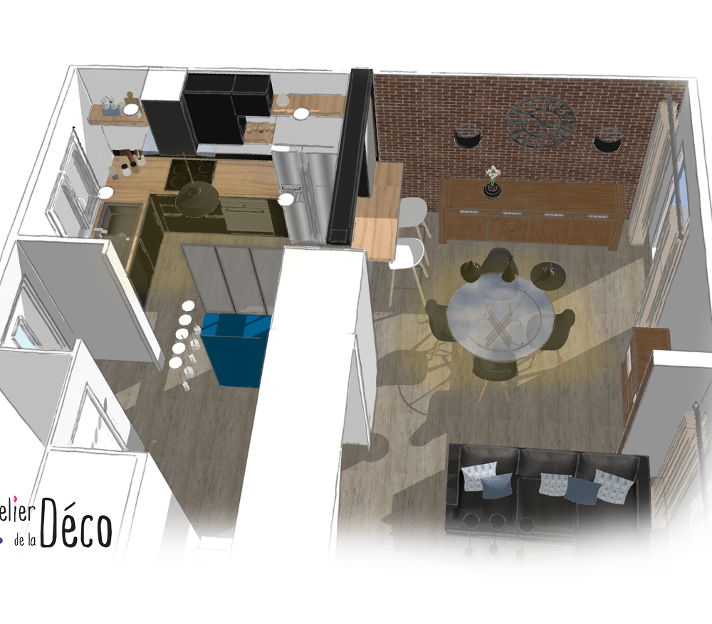 salle à manger et cuisine log-min